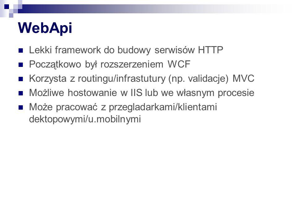 WebApi Lekki framework do budowy serwisów HTTP