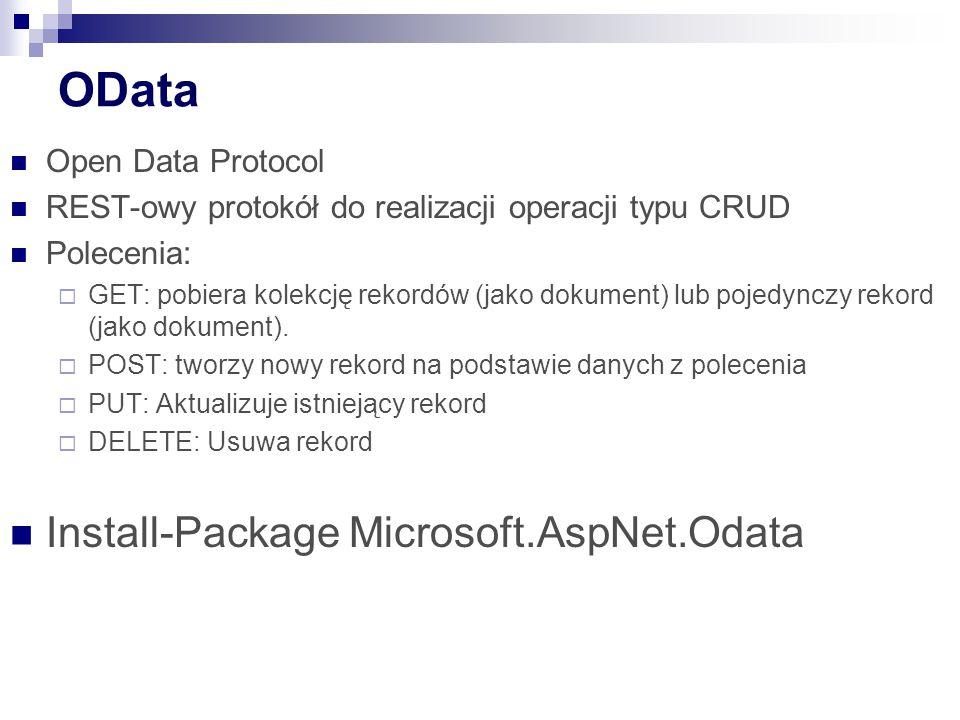 OData Install-Package Microsoft.AspNet.Odata Open Data Protocol