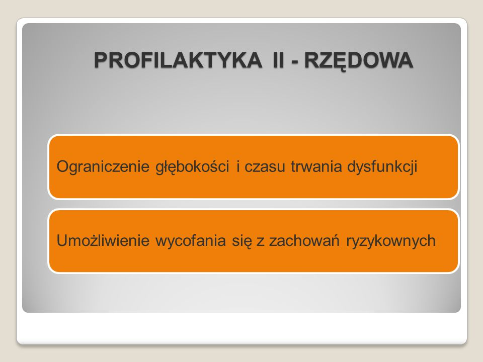 PROFILAKTYKA II - RZĘDOWA