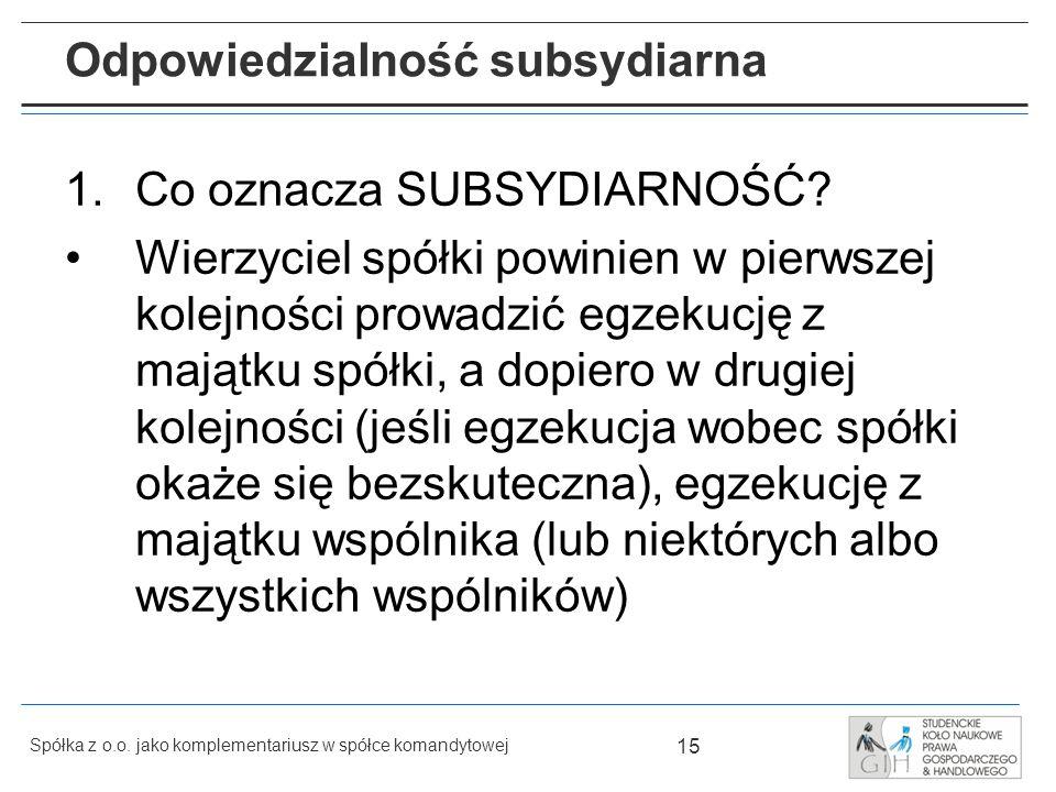 Odpowiedzialność subsydiarna