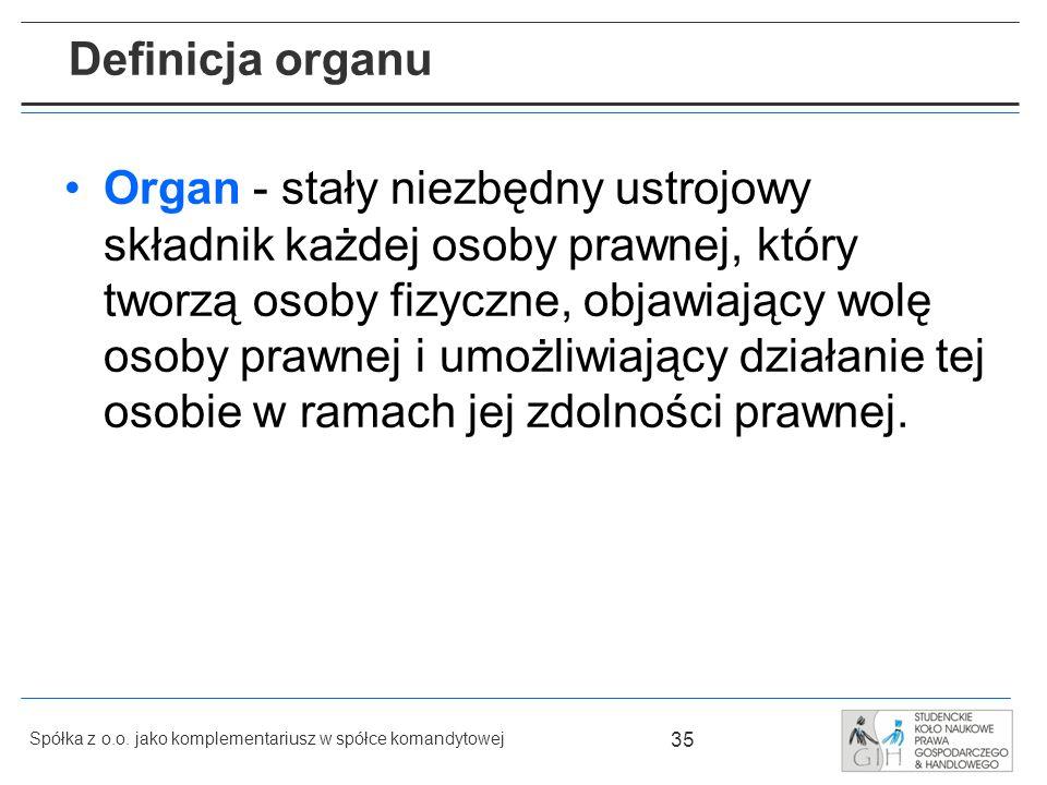 Definicja organu