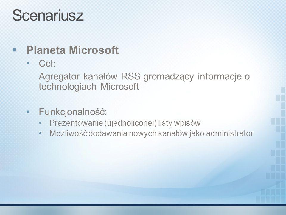 Scenariusz Planeta Microsoft Cel: