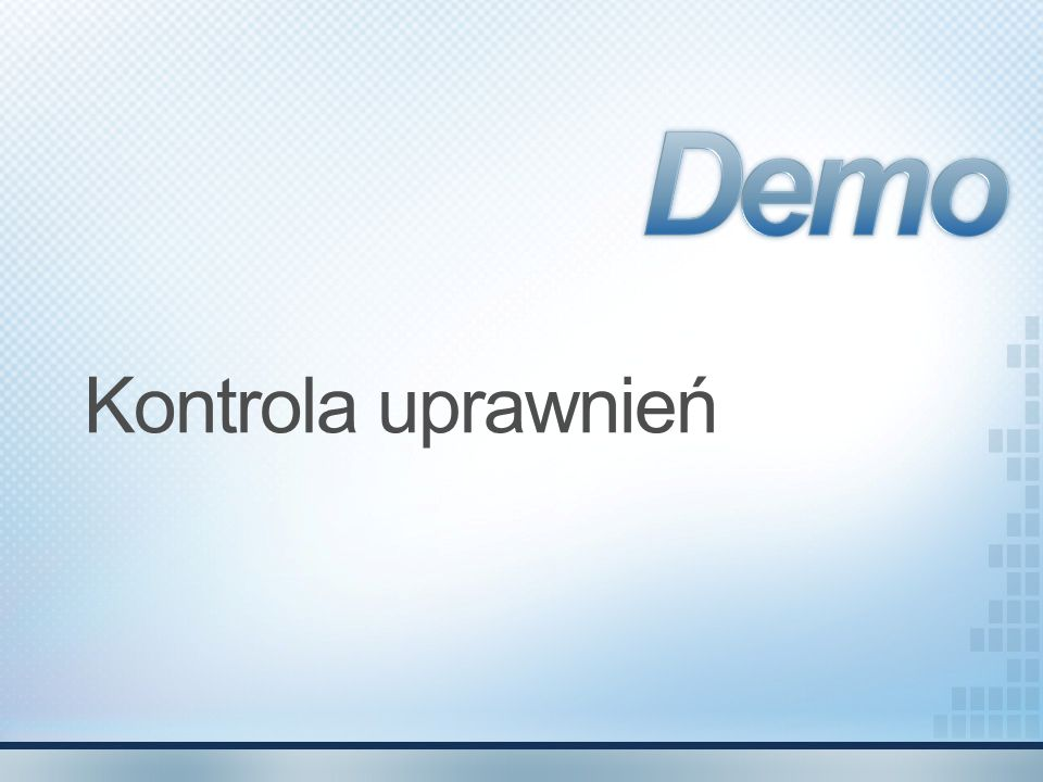 Demo Kontrola uprawnień