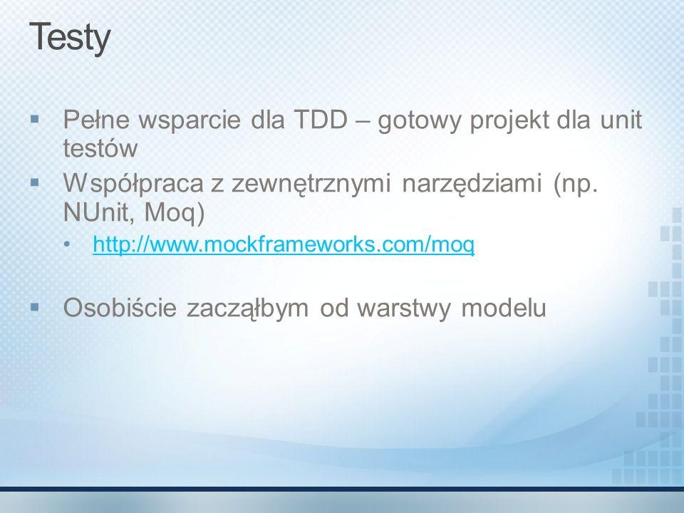 Testy Pełne wsparcie dla TDD – gotowy projekt dla unit testów