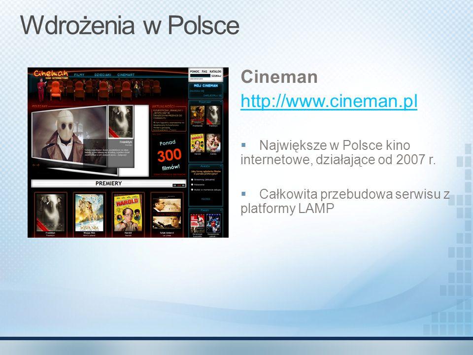 Wdrożenia w Polsce Cineman http://www.cineman.pl