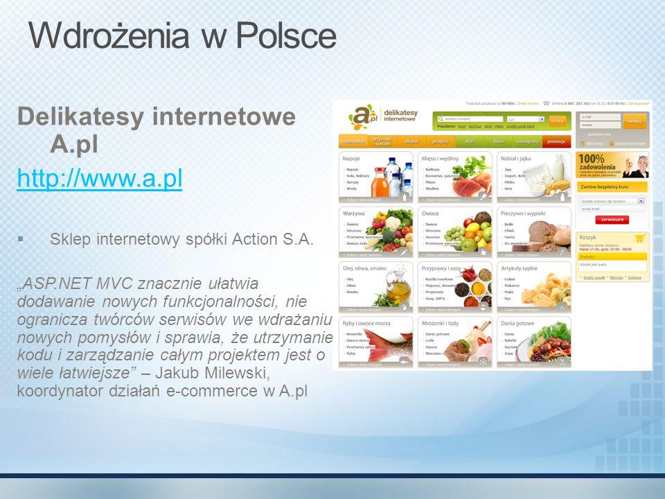 Wdrożenia w Polsce Delikatesy internetowe A.pl http://www.a.pl
