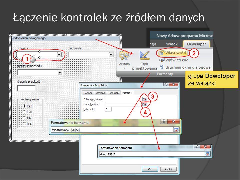 Łączenie kontrolek ze źródłem danych