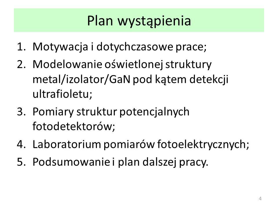 Plan wystąpienia Motywacja i dotychczasowe prace;