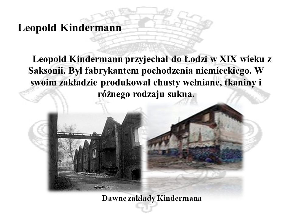 Dawne zakłady Kindermana