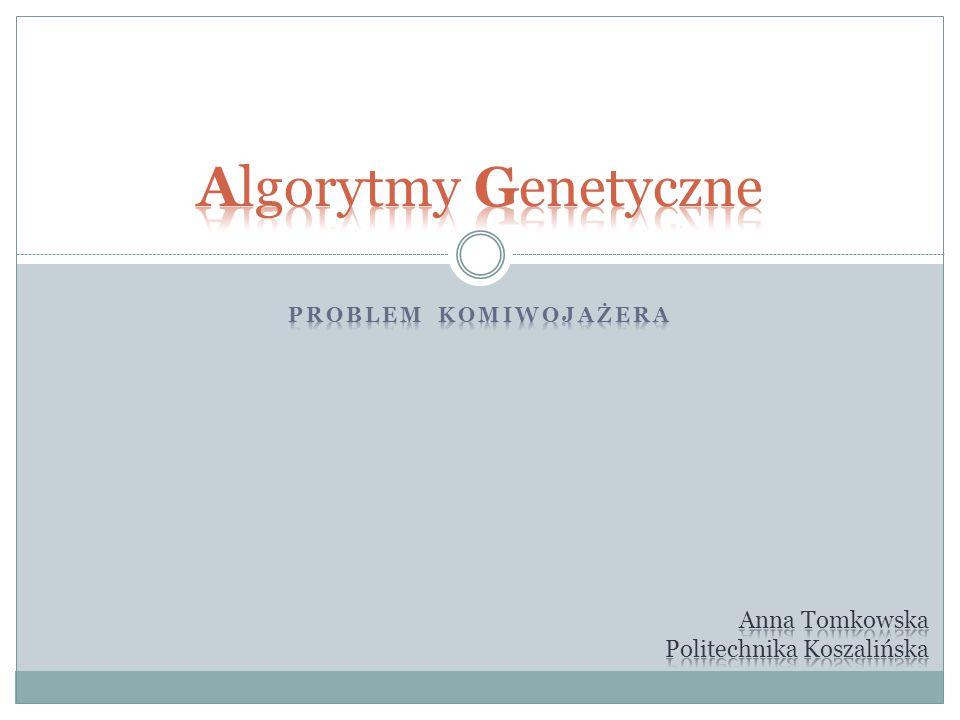 Algorytmy Genetyczne Anna Tomkowska Politechnika Koszalińska