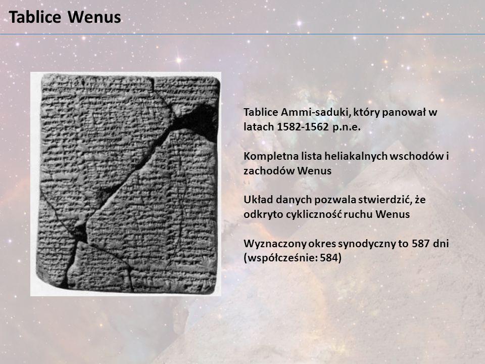 Tablice Wenus Tablice Ammi-saduki, który panował w