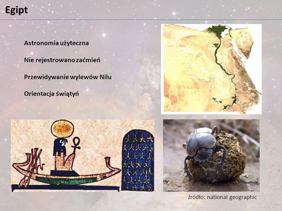 Egipt Astronomia użyteczna Nie rejestrowano zaćmień
