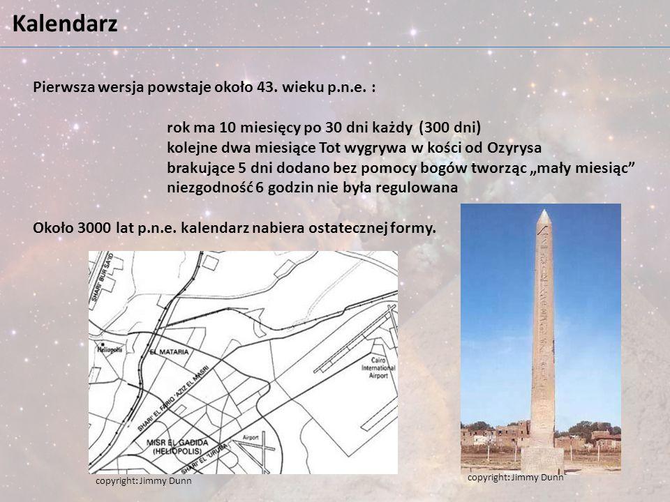 Kalendarz Pierwsza wersja powstaje około 43. wieku p.n.e. :