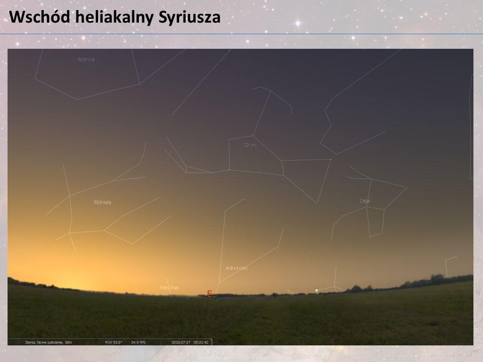 Wschód heliakalny Syriusza