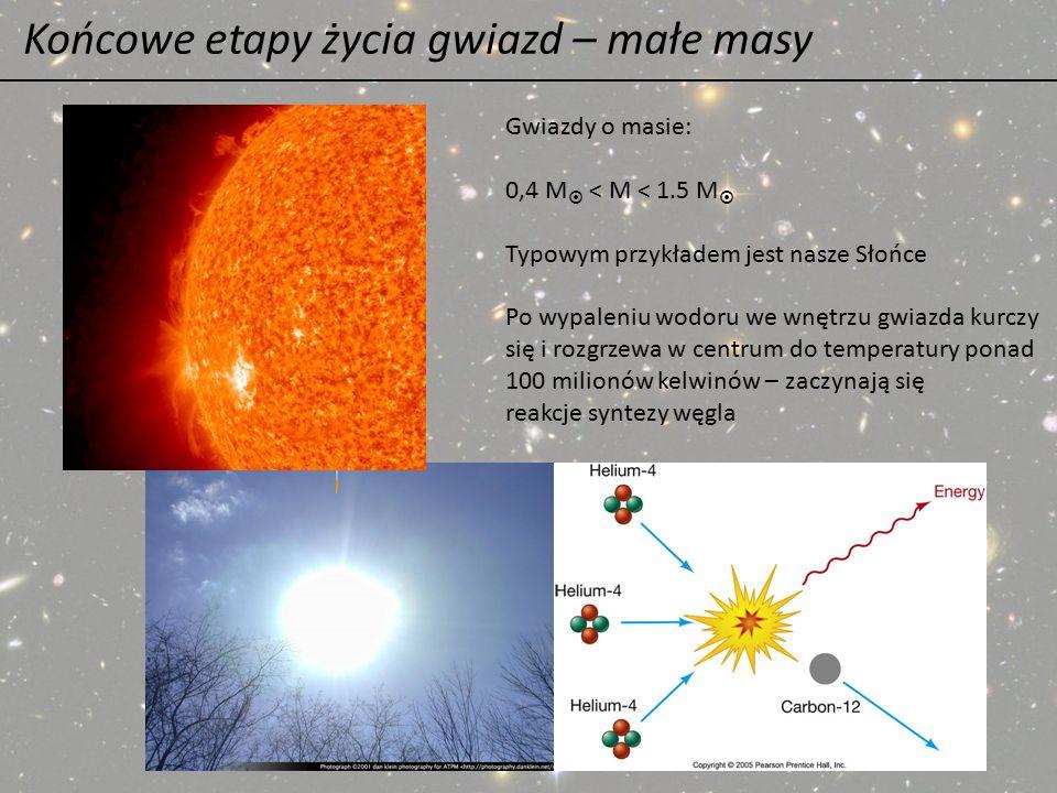 Końcowe etapy życia gwiazd – małe masy