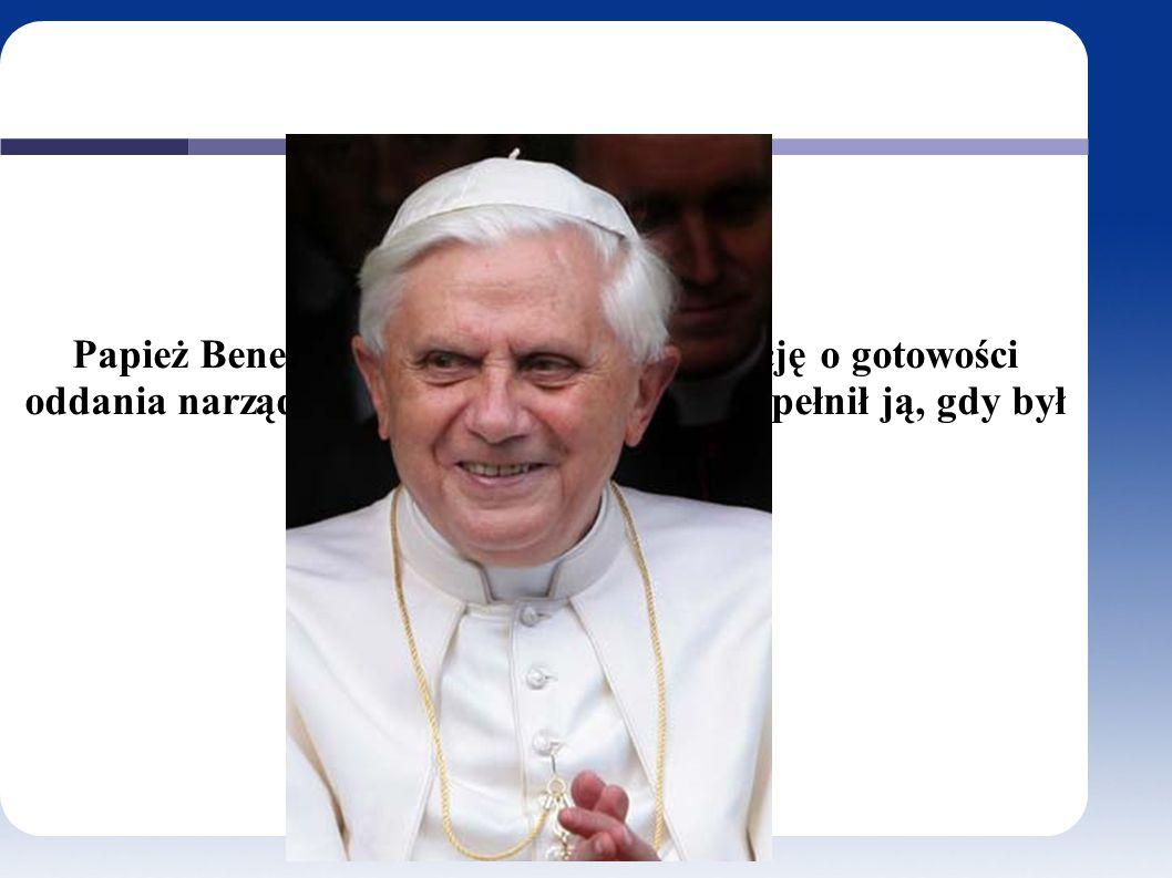 Papież Benedykt XVI podpisał deklarację o gotowości oddania narządów do przeszczepienia.