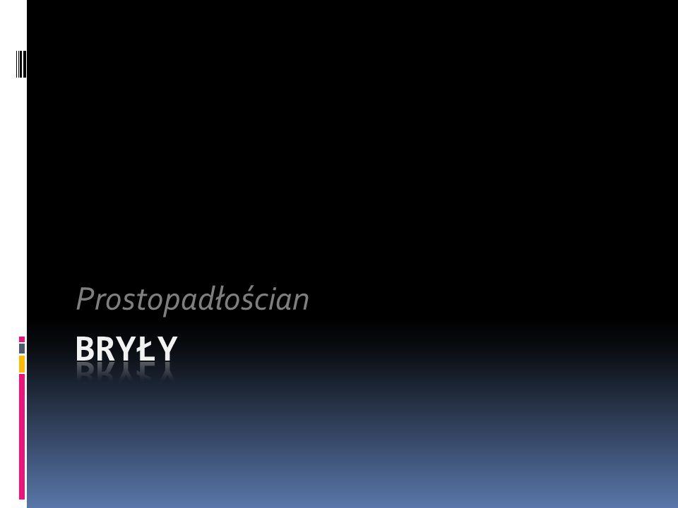 Prostopadłościan Bryły