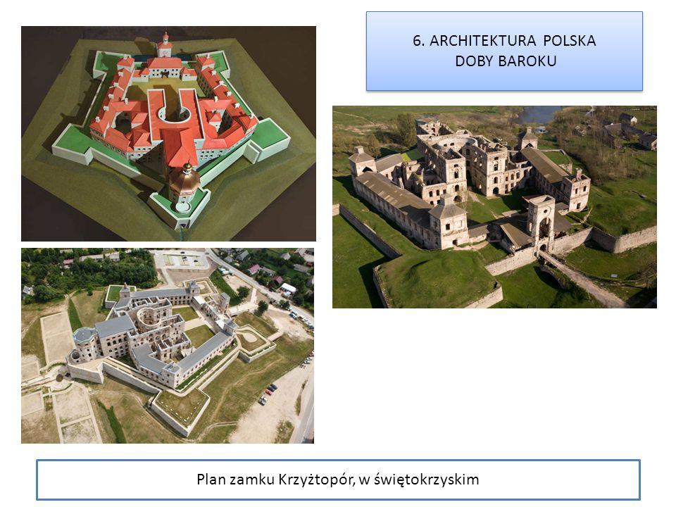Plan zamku Krzyżtopór, w świętokrzyskim
