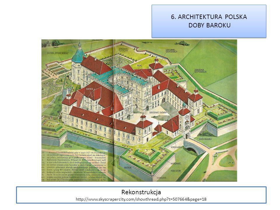 6. ARCHITEKTURA POLSKA DOBY BAROKU Rekonstrukcja