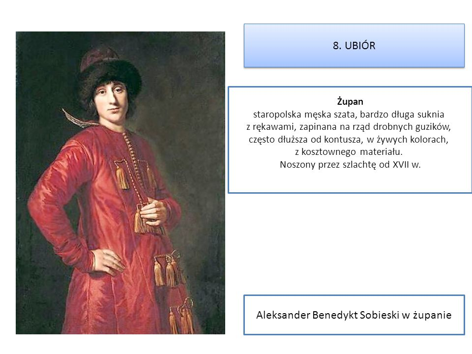 Aleksander Benedykt Sobieski w żupanie