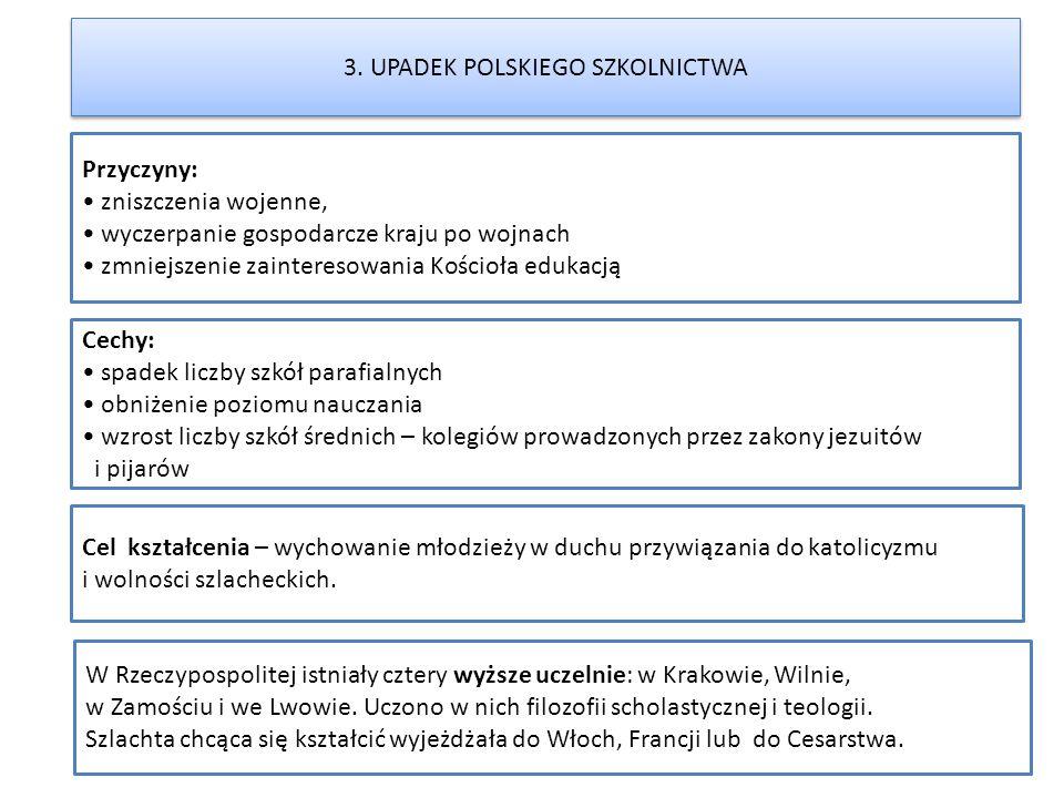 3. UPADEK POLSKIEGO SZKOLNICTWA