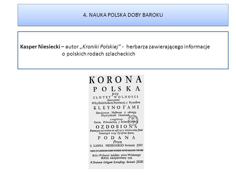 4. NAUKA POLSKA DOBY BAROKU