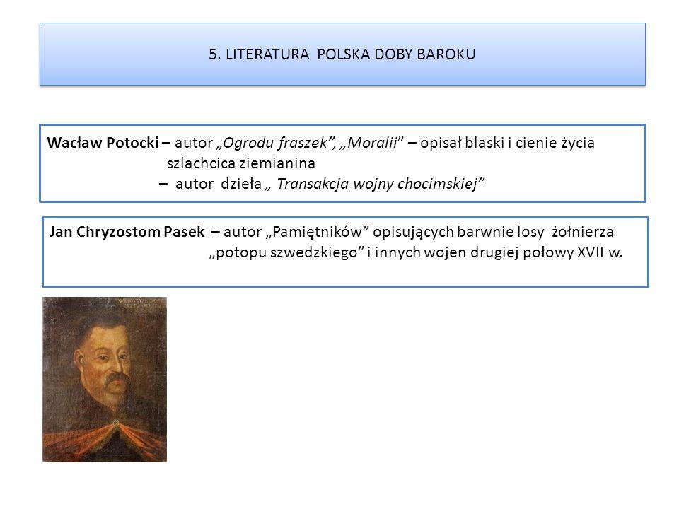5. LITERATURA POLSKA DOBY BAROKU