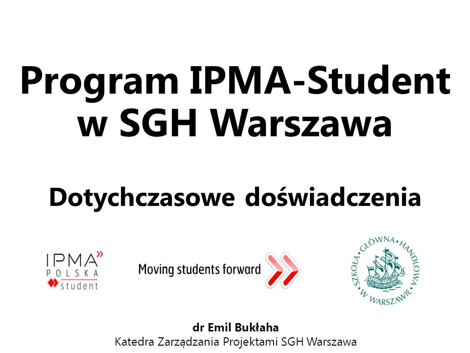 Program IPMA-Student w SGH Warszawa
