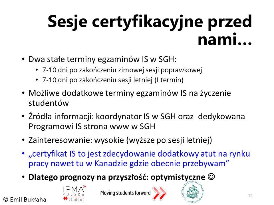 Sesje certyfikacyjne przed nami…