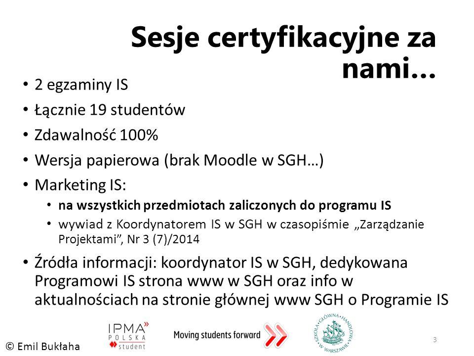 Sesje certyfikacyjne za nami…
