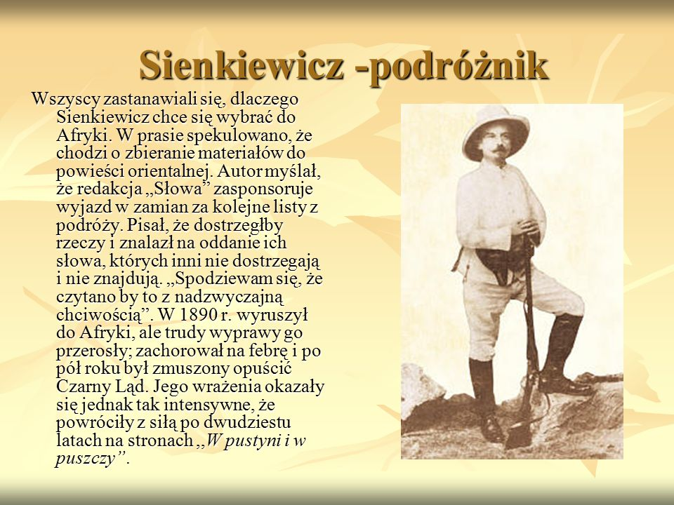 Sienkiewicz -podróżnik