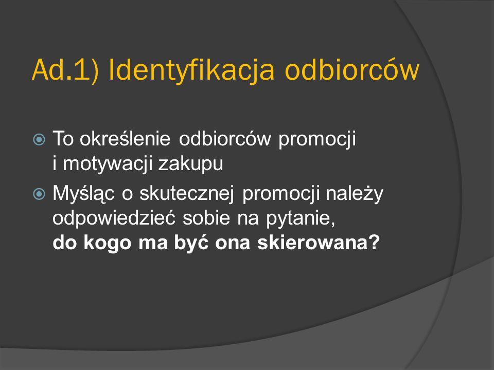 Ad.1) Identyfikacja odbiorców