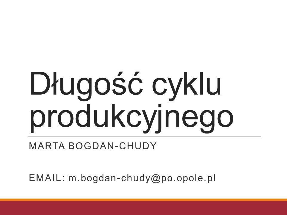 Długość cyklu produkcyjnego