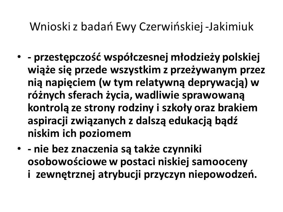 Wnioski z badań Ewy Czerwińskiej -Jakimiuk
