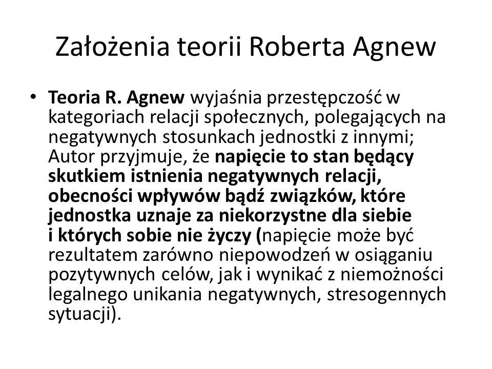 Założenia teorii Roberta Agnew