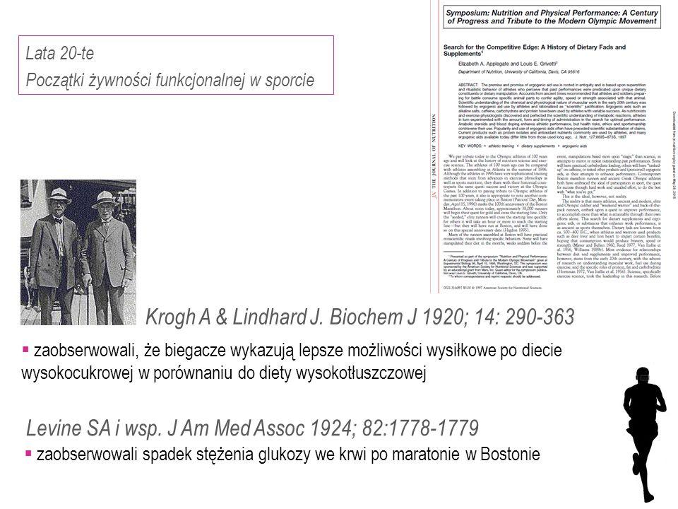 Krogh A & Lindhard J. Biochem J 1920; 14: 290-363