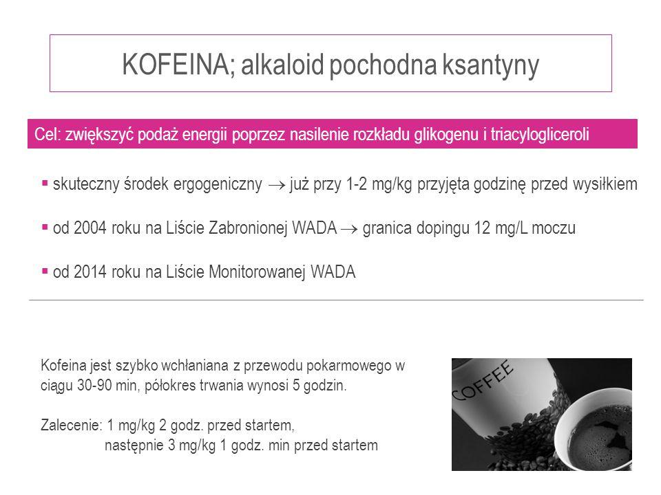 KOFEINA; alkaloid pochodna ksantyny