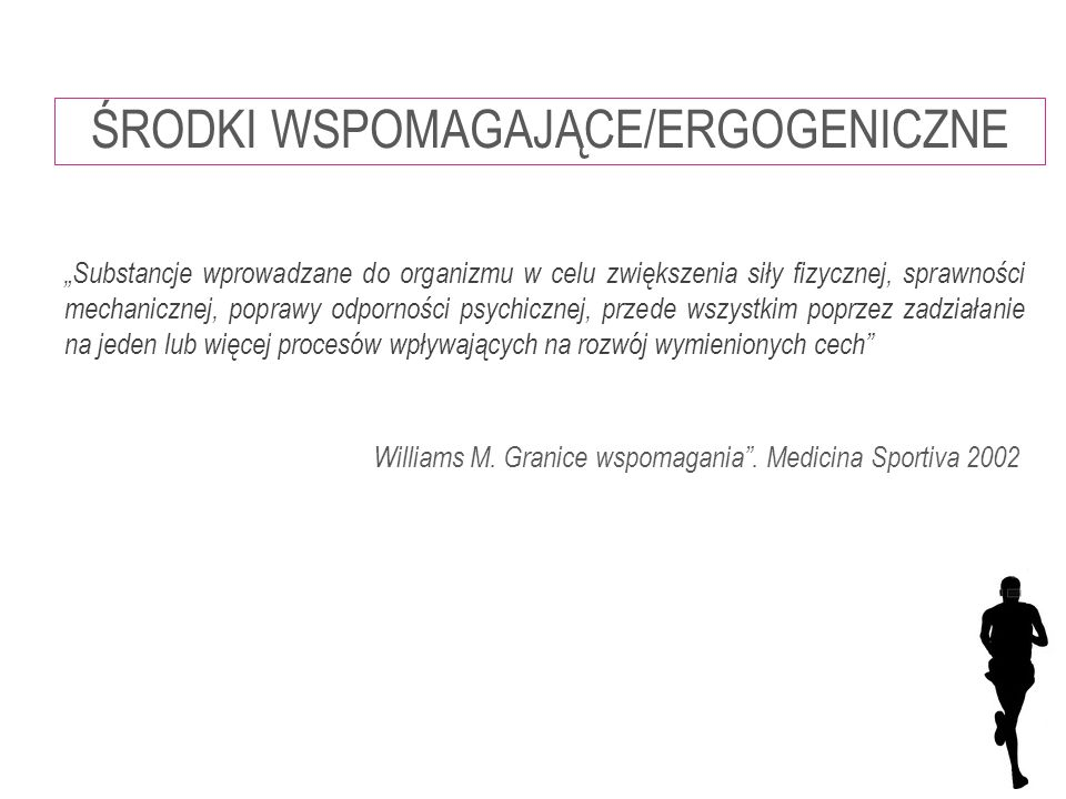 Williams M. Granice wspomagania . Medicina Sportiva 2002