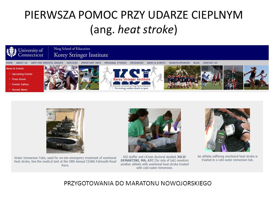 PIERWSZA POMOC PRZY UDARZE CIEPLNYM (ang. heat stroke)