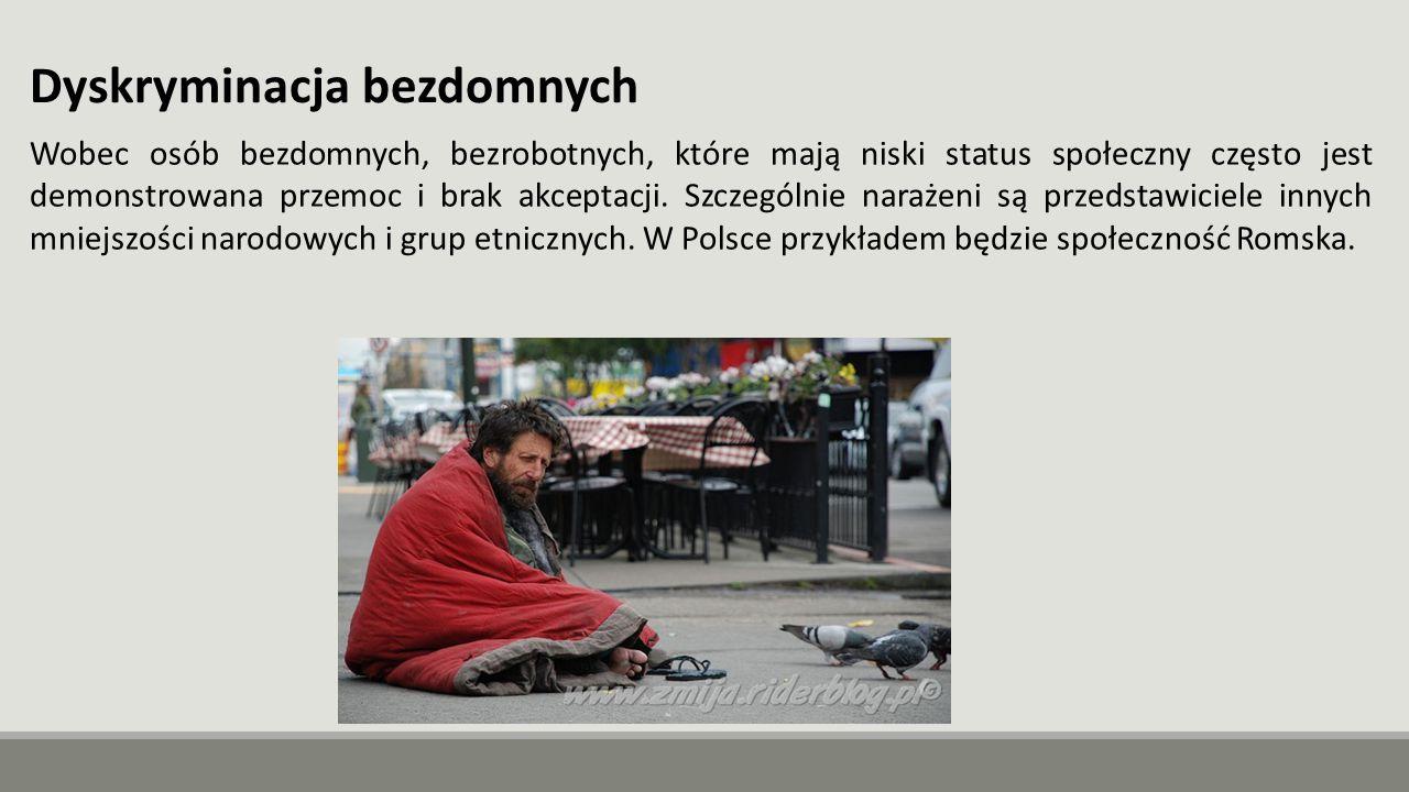 Dyskryminacja bezdomnych