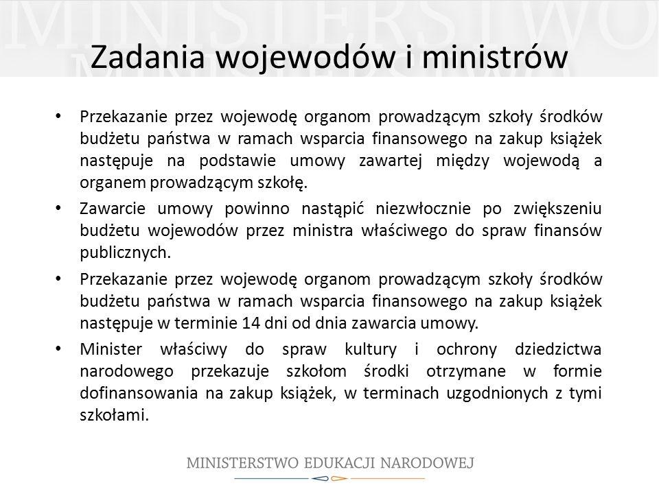 Zadania wojewodów i ministrów
