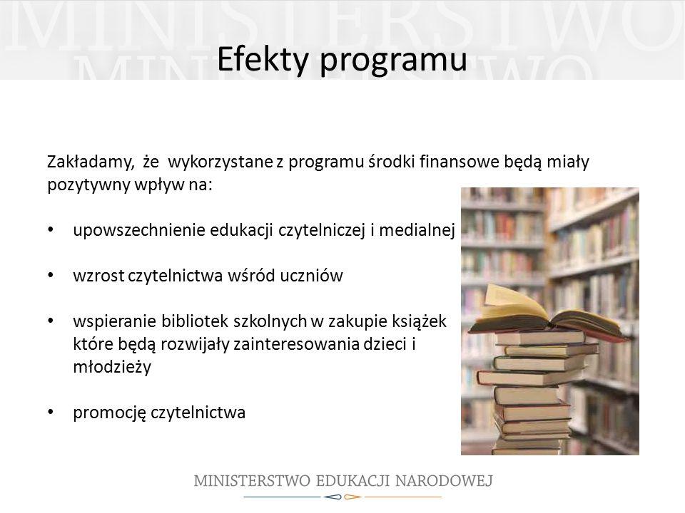 Efekty programu Zakładamy, że wykorzystane z programu środki finansowe będą miały pozytywny wpływ na: