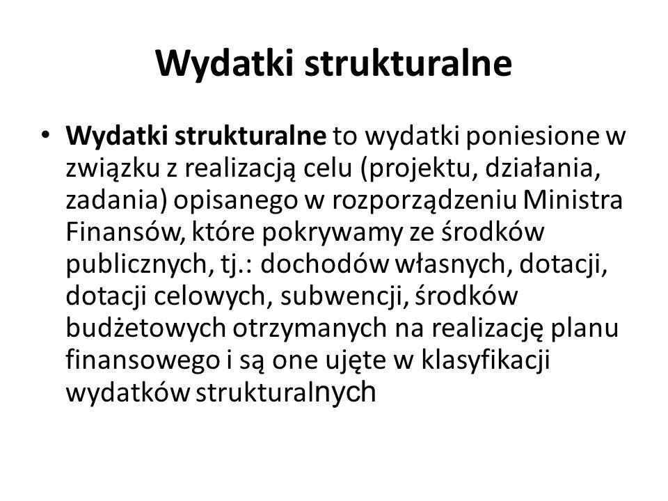 Wydatki strukturalne