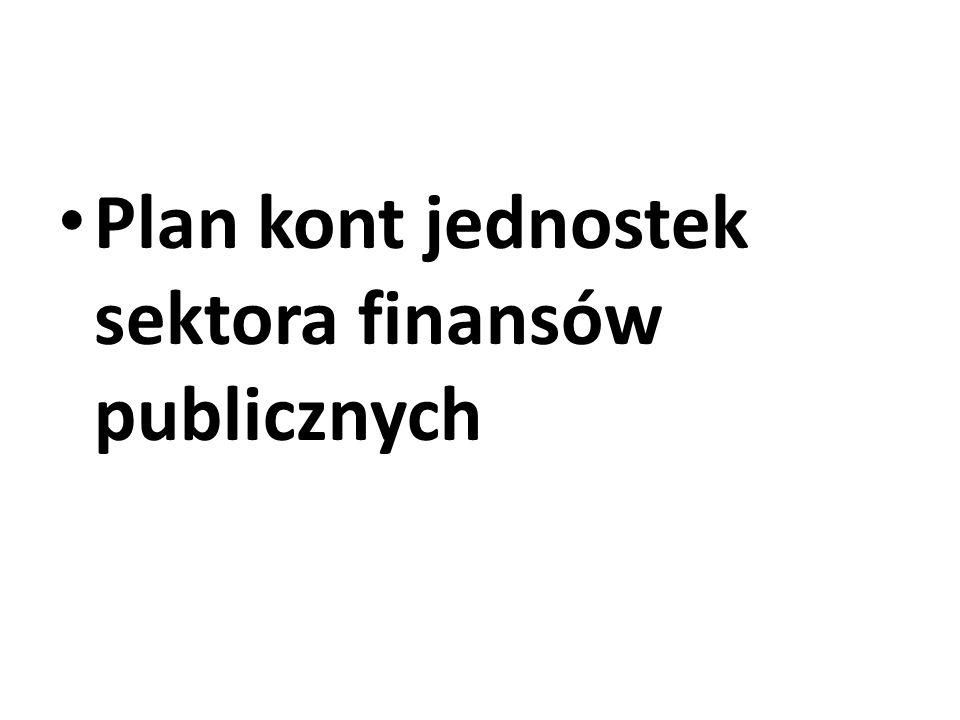 Plan kont jednostek sektora finansów publicznych