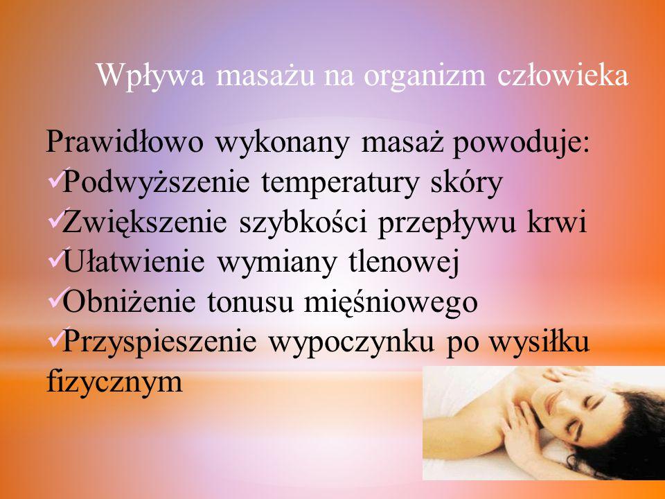 Wpływa masażu na organizm człowieka