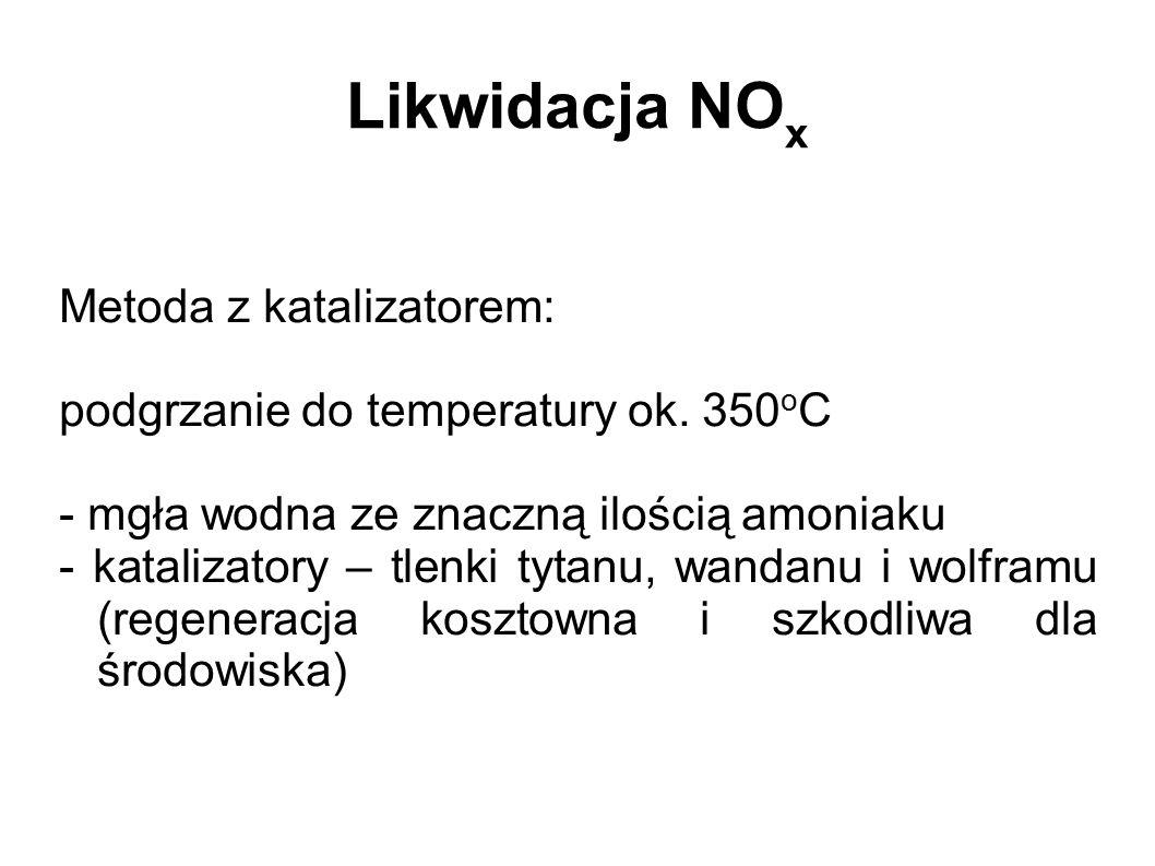 Likwidacja NOx Metoda z katalizatorem: