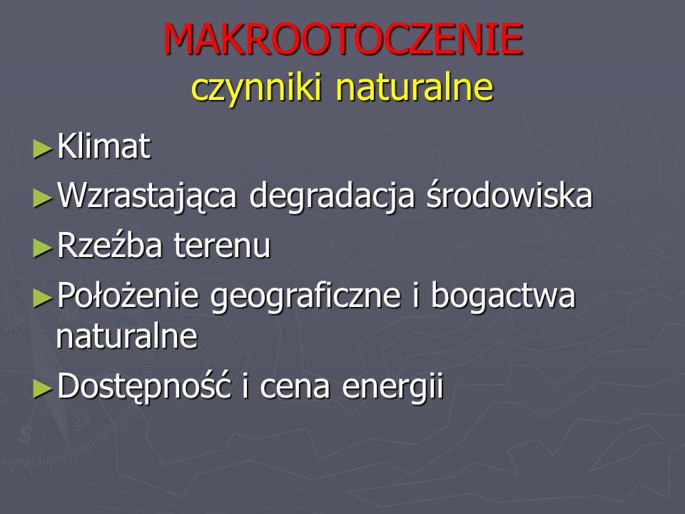 MAKROOTOCZENIE czynniki naturalne