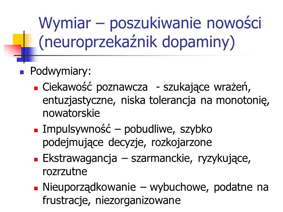 Wymiar – poszukiwanie nowości (neuroprzekaźnik dopaminy)