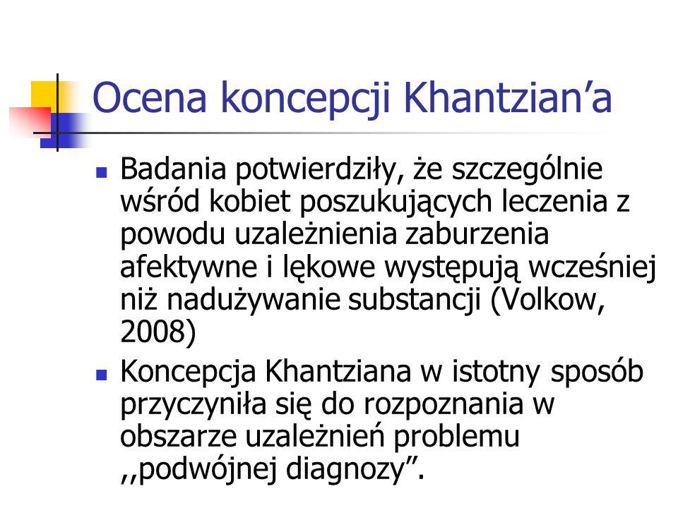 Ocena koncepcji Khantzian'a