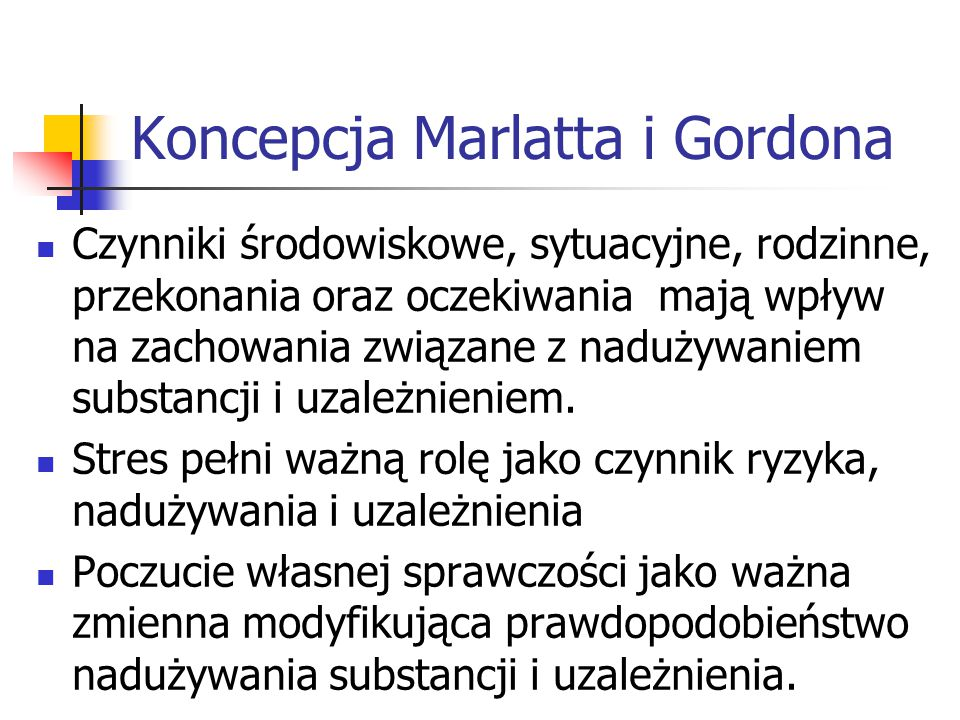 Koncepcja Marlatta i Gordona